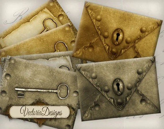 Printable Steampunk Craft Labels And Papers