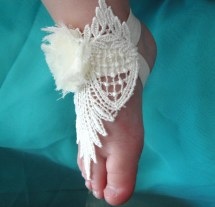 Lace Baby Barefoot Sandals