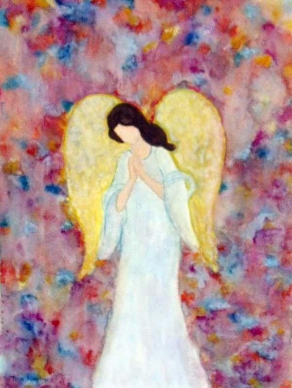 Guardian Angel Watercolor Paintings