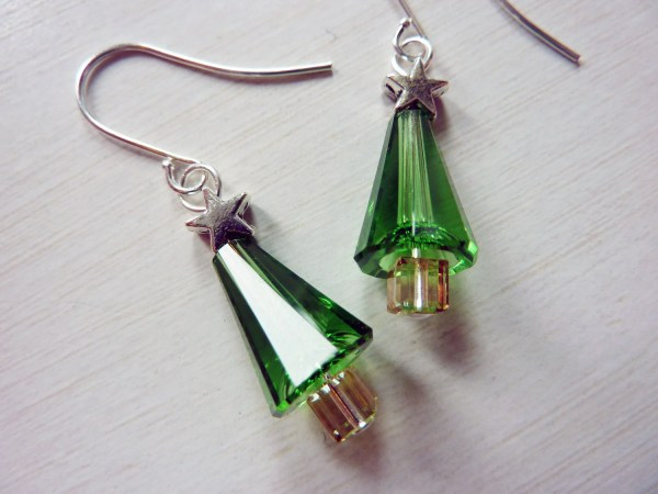 Simply Festive Christmas Tree Earrings Crystal Christmas