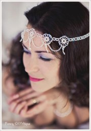 1920s hairpiece 1920's bridal hair