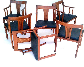 Mid Century Danish Modern Dining Chairs Set of 6 - TimandKimShow