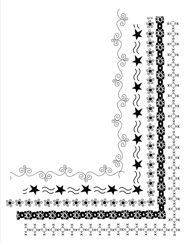 5 Doodle Frames 8 5 X 11 Clip Art Set Digital