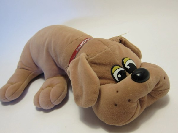 Vintage Pound Puppies With Collar 80' Toys Brown Pug