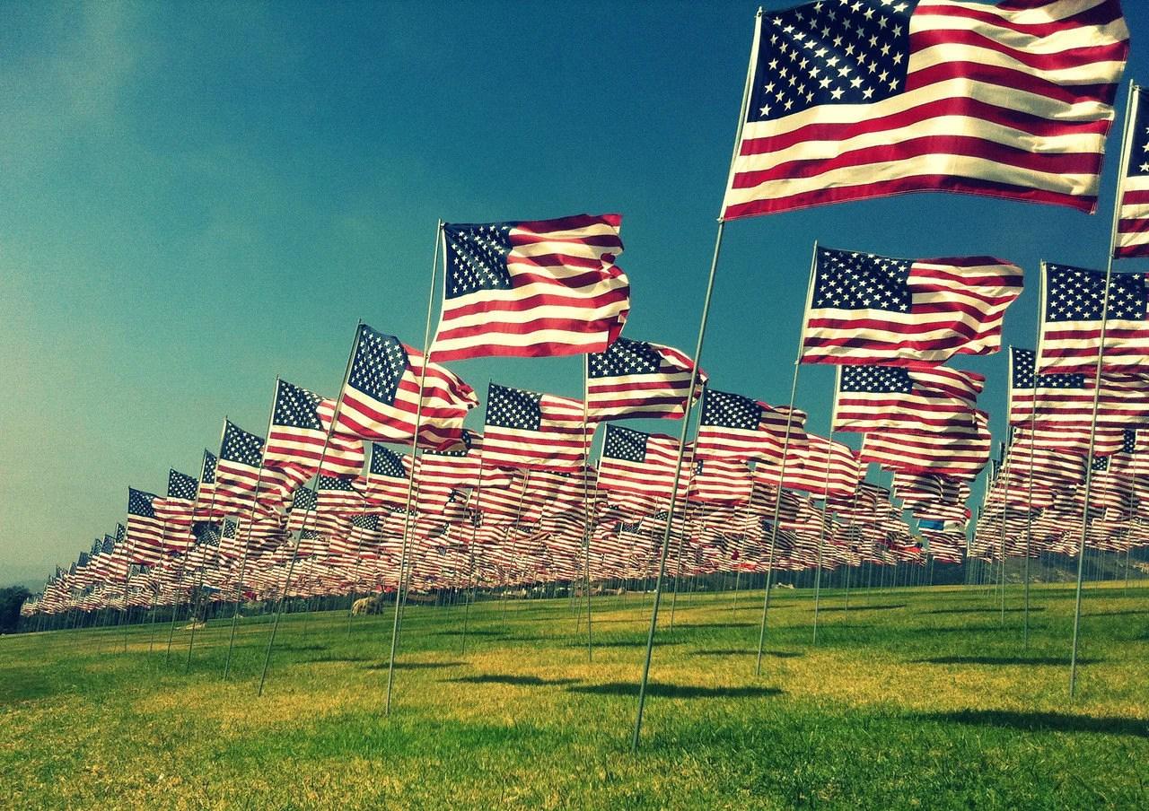 5x7 Vintage Style Flag USA Patriot Art 9-11 Memorial Tribute in Malibu