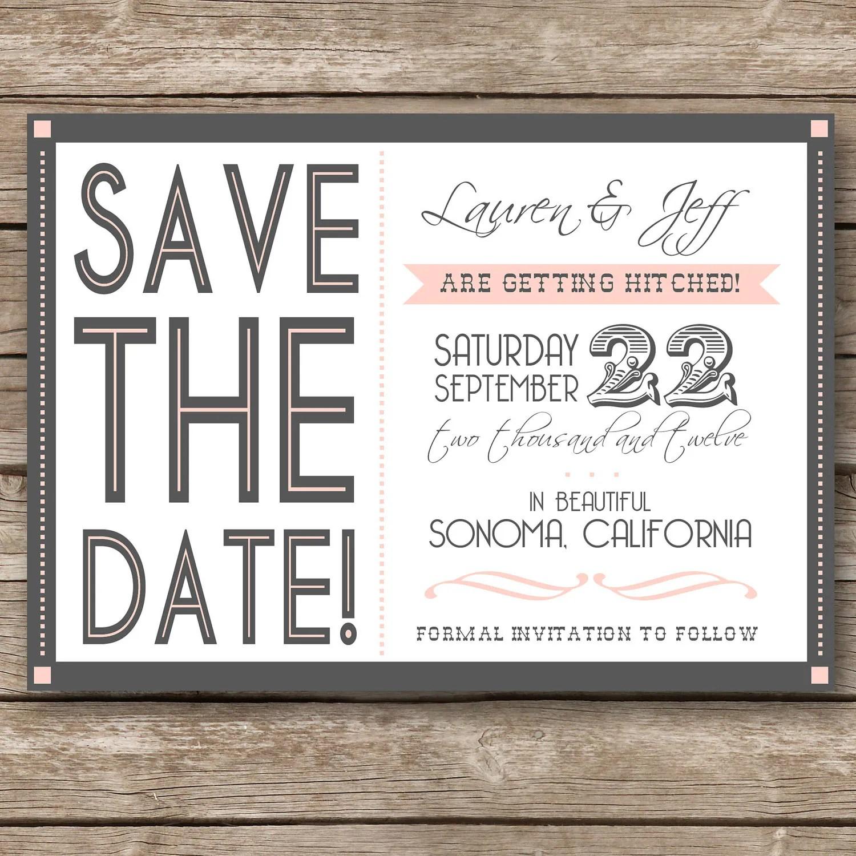 Print Custom Save Dates