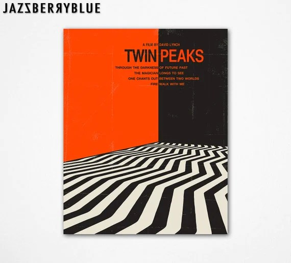 Small Art Print, Movie Poster Style Modern Pop Artwork, (8x10) 'TWIN PEAKS: Fire Walk With Me', by Modern Artist Jazzberry Blue
