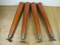 4 Mid Century Modern Table Legs Tapered Table Legs Wooden