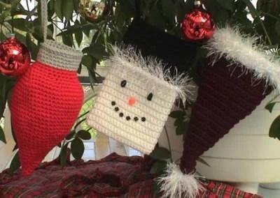 CROCHET PATTERN Easy BEGINNER Small Christmas Stocking Set of