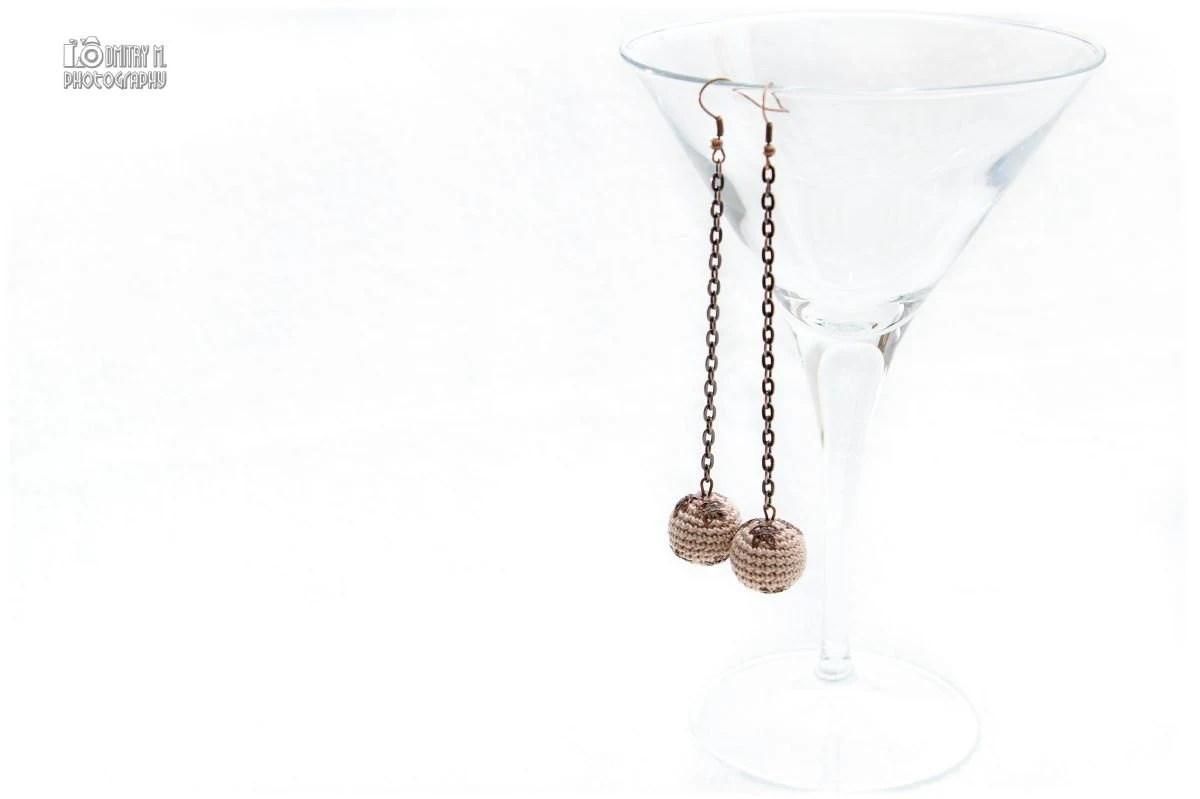 Crochet Bead Necklace in beige cream mocha. Fresh by MagazinIL