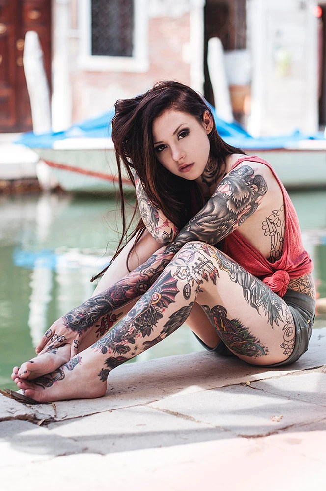 Tattooed model gogo blackwater for Blackwater tattoo studio