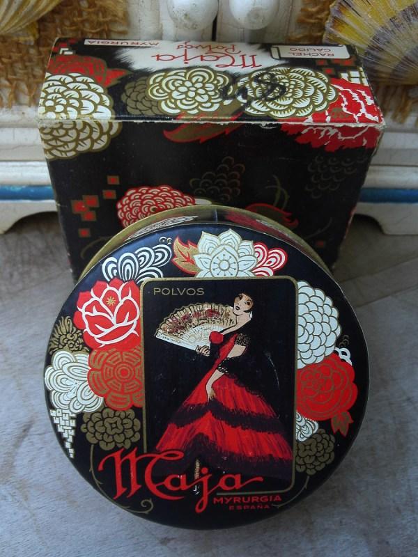 Vintage Maja Myrurgia Face Powder 1.5 Oz. With Box Sealed