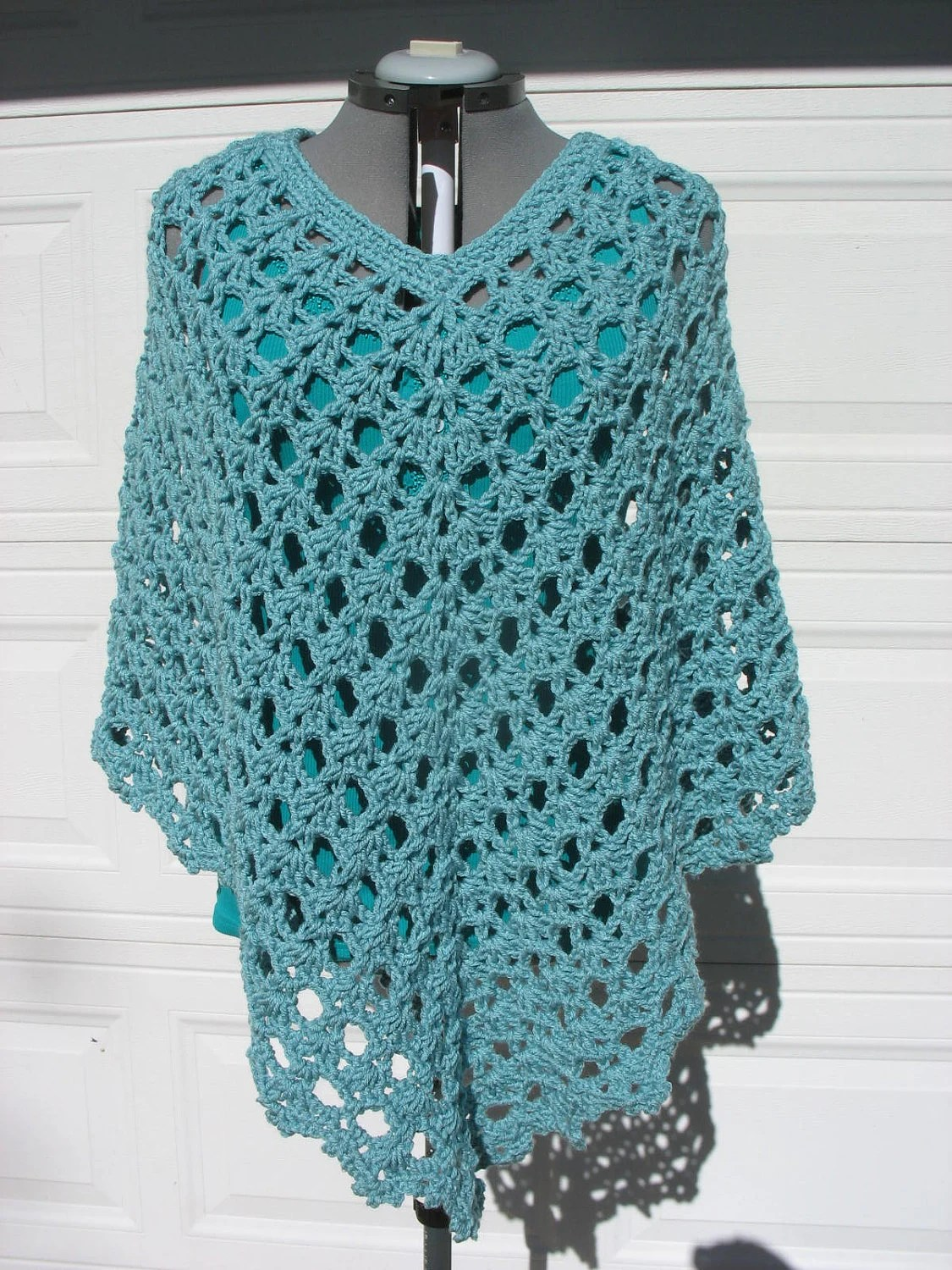 Plus Size Crochet Lacy Poncho Cover Up for Women or by