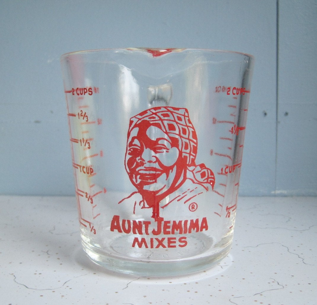 aunt jemima kitchen curtains franke sinks catalogue vintage fire king measuring cup