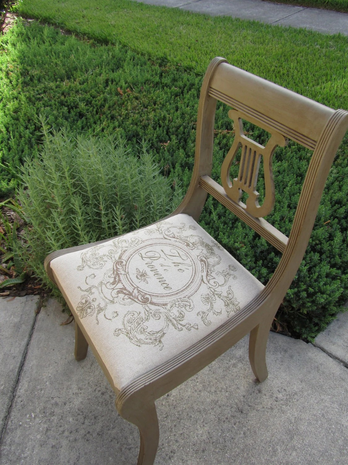 Lyre Back Chairs Lyre Back Chair In French Linen Chalk Paint