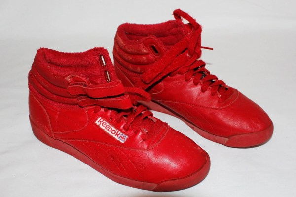 80s Vintage Reebok Classics Red High-top