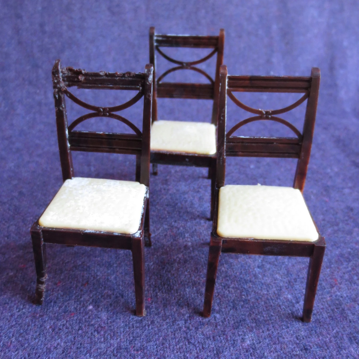 Dining Room Chairs Dollhouse Furniture by JeniYesterday on