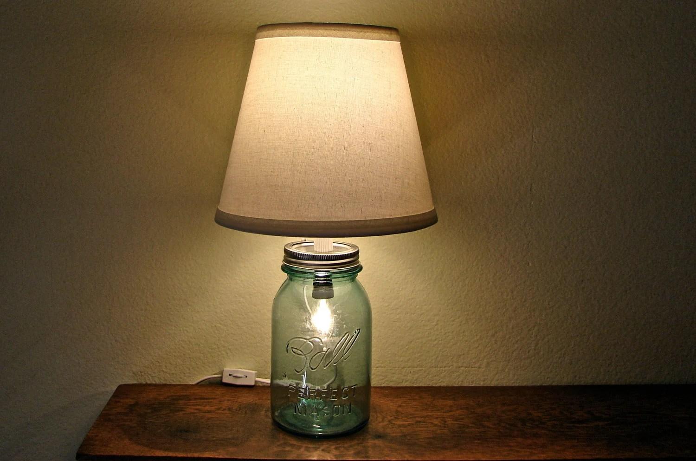 Discount Vintage Blue Mason Jar Table Lamp No by