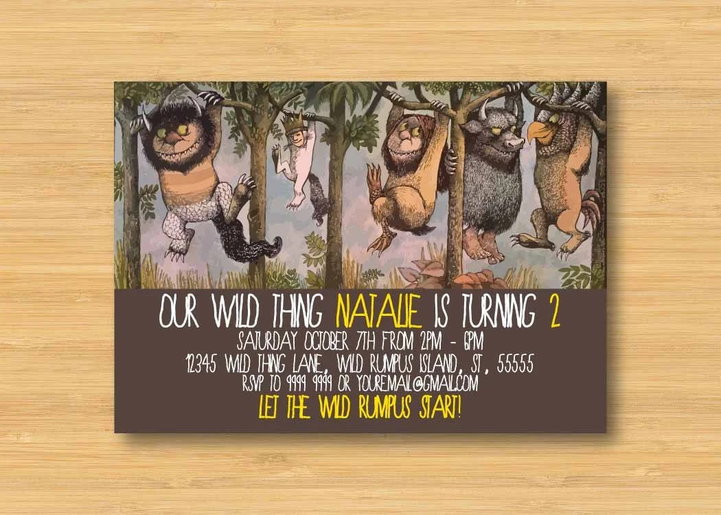 Items similar to Where the Wild Things Are Invitation