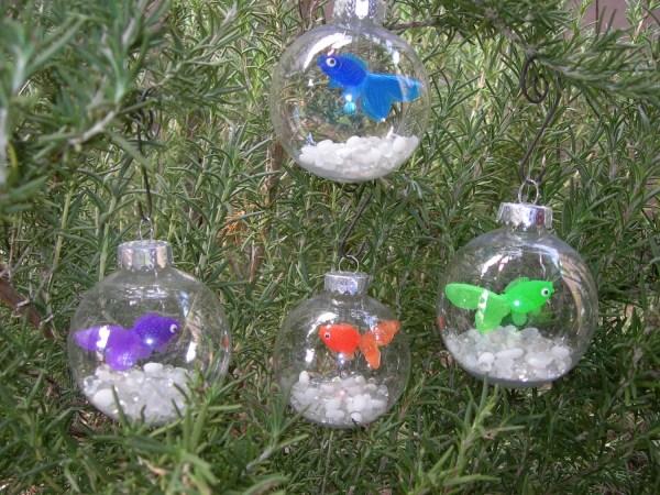 Fish Bowl Christmas Ornament