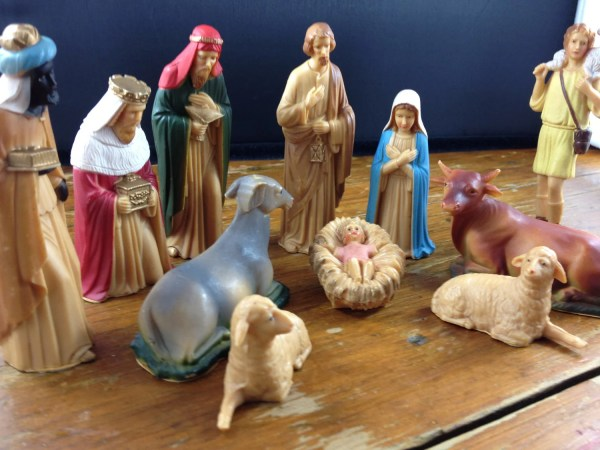 Vintage Plastic Nativity Set 12 Pieces Elodievintagehome