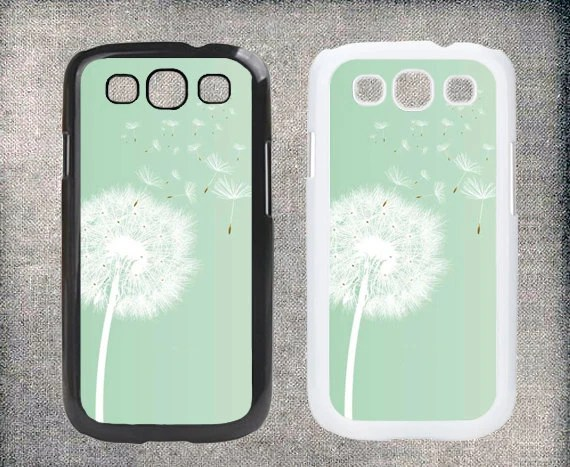Mint dandelion pastel Samsung Galaxy S3 case,Samsung Galaxy S4 case, Plastic hard case cover,Samsung Galaxy I9300/ I9500 case