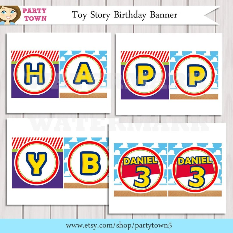 Toy Story Birthday Party Banner Printable