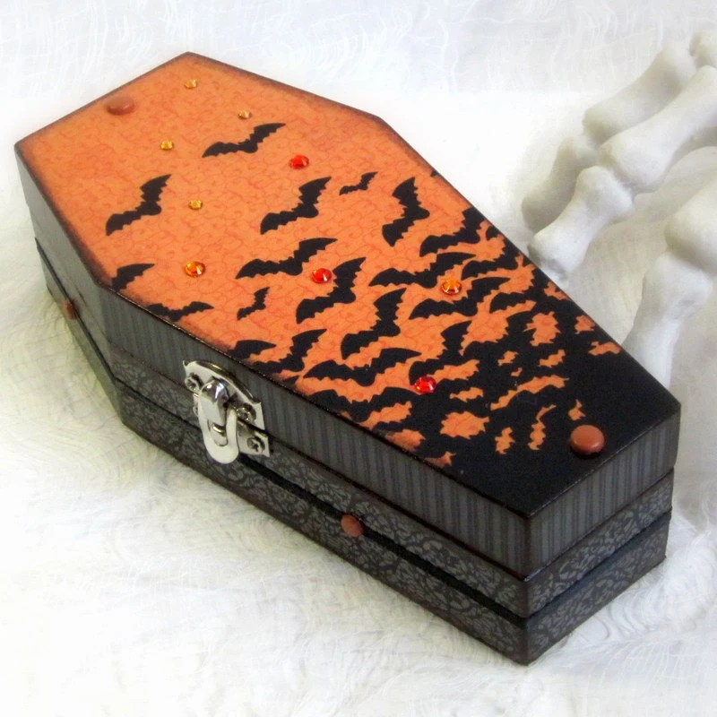 Monthly DIY How to Make a Coffin Halloween Treat Box  Citizen Erased Photography