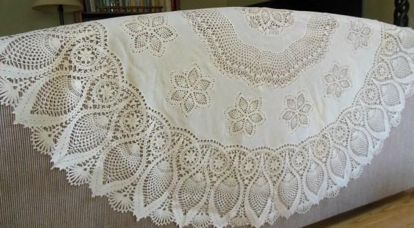 Vinyl Plastic Lace Tablecloth 60 Lauraslastditch
