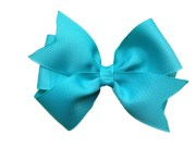 4 turquoise hair bow