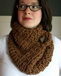 Crocheted Dark Purple Infinity Cowl Neck Scarf By ...