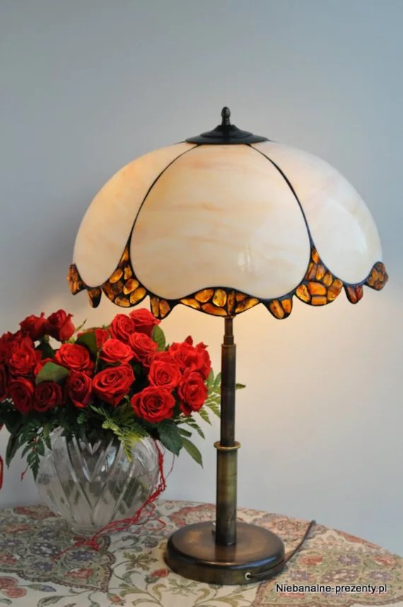 Items similar to Stained glass Tiffany style lampshade