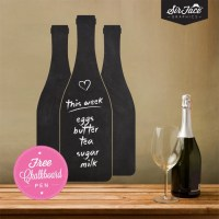 Write & Erase Wine Bottles Wall Decal Kitchen Wall Decal