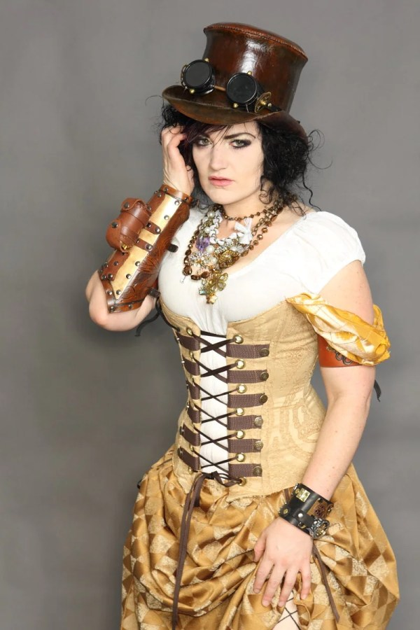 Waist 35 37 Steampunk Belle Princess Corset