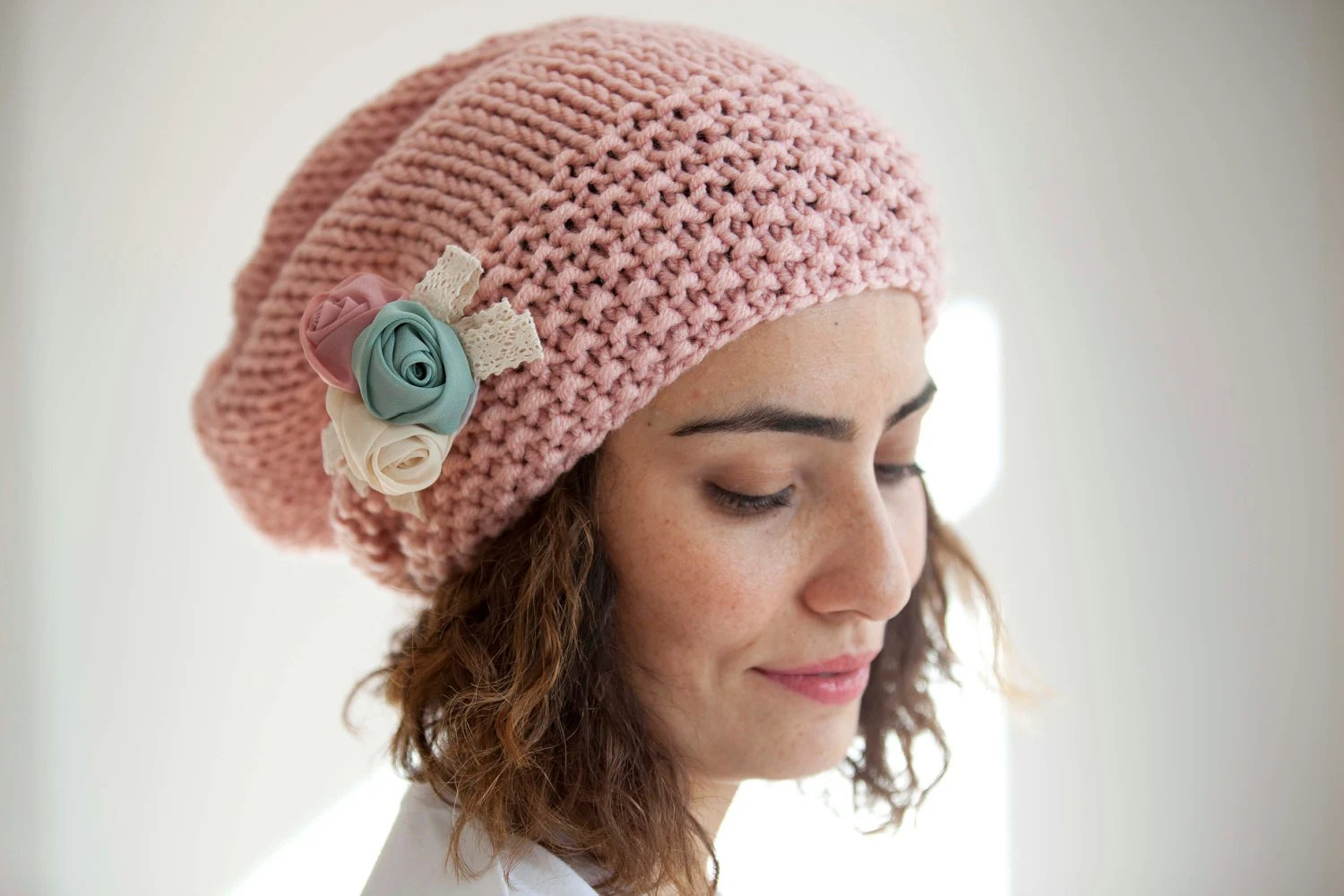 Pretty Woman Pink Slouchy Hat by Afra - afra
