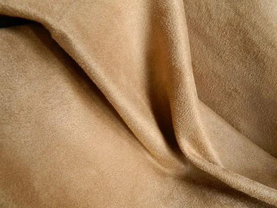 SOFT Washable Microfiber Ultrasuede Fabric CAMEL Slipcovers