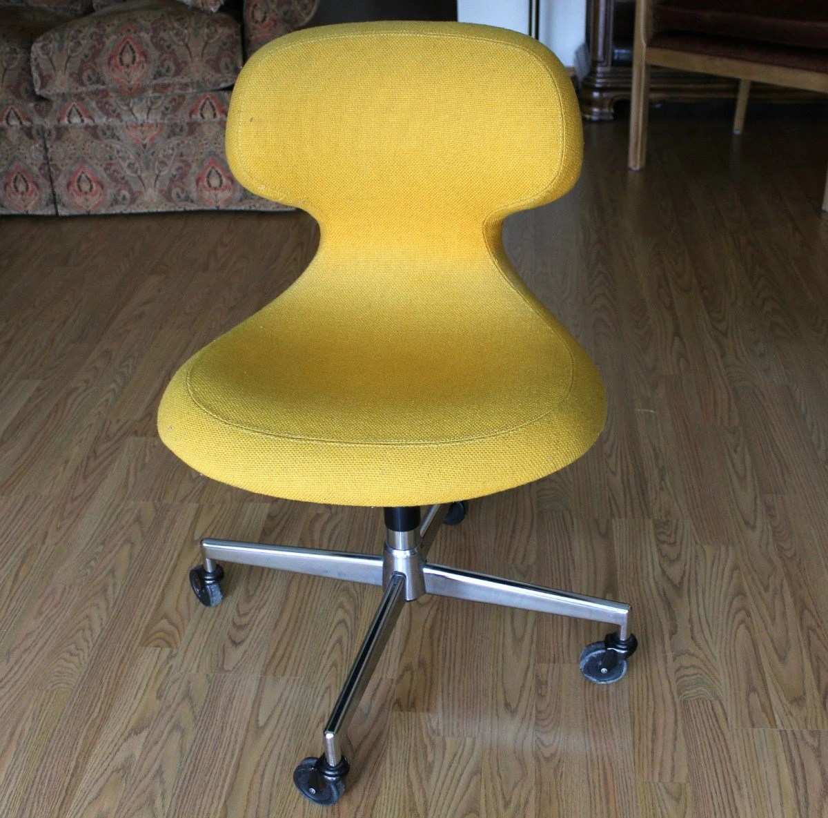 Yellow Egg Chair Vintage Harter Office Chair Ergonomic Mid Century Modern