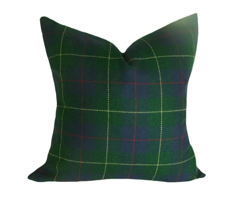 Blue And Green Plaid Pillows Throw Pillows Covers Tartan