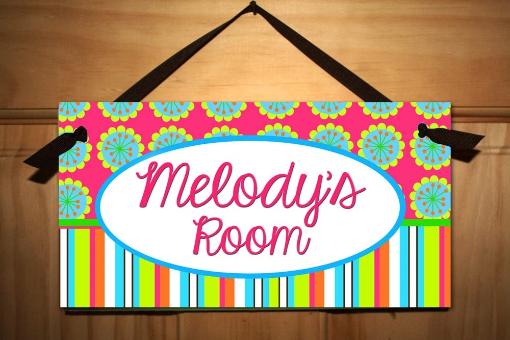 Groovy Girl Teen DOOR SIGN Kids Bedroom Playroom Wall Art