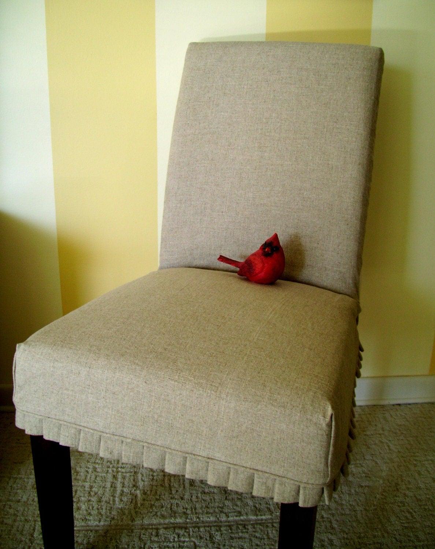 Linen Parsons Chair Slipcover