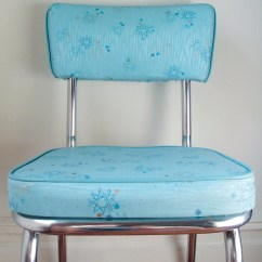 Retro Kitchen Chairs For Sale World Market Outdoor Vintage Circa 1950s Aqua Atomic Pattern