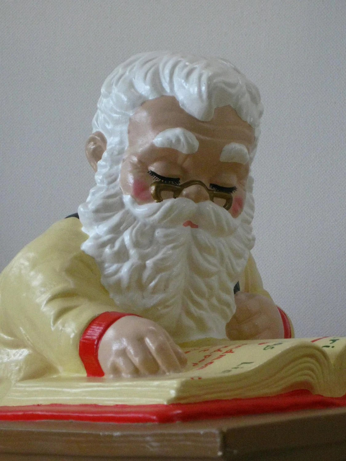 Large Christmas Cookie Jar Vintage Ceramic Santa Claus 1972