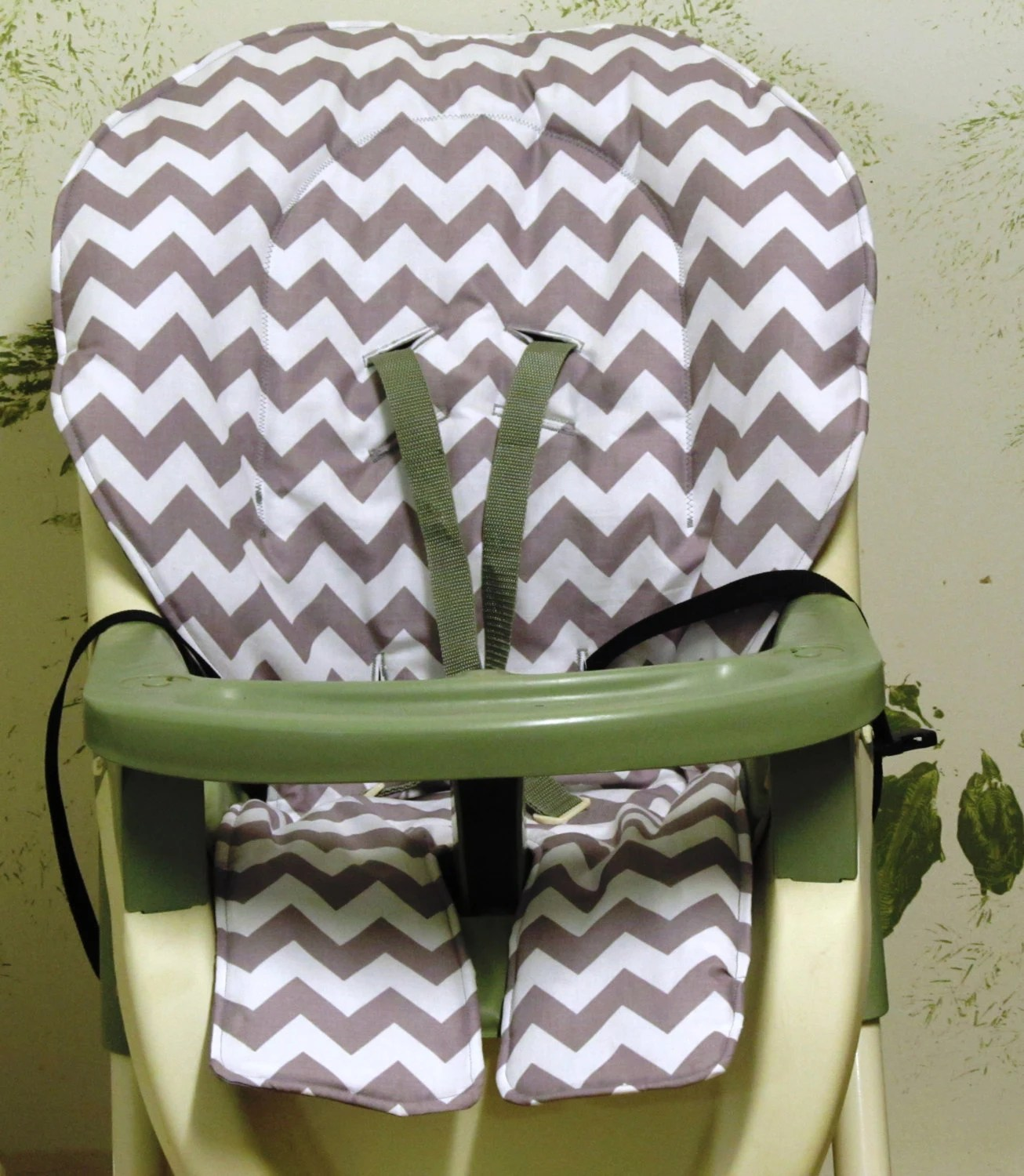 summer high chair cover black tufted graco zig zag replacement padcover gray chevron