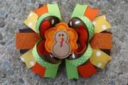 custom listing turkey hair bow