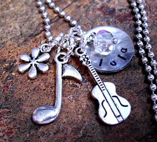 Cello Jewelry Personalized Musical Note Necklace Charmaccents