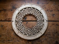 Vintage Decorative Stove Pipe Surround with Greek Key Detail