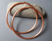Items similar to Gauged Tribal Copper Hoop Earrings - Size ...
