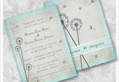 Blue Wedding Invitations Etsy