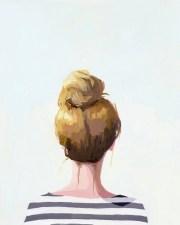 hair art bun print top knot 18