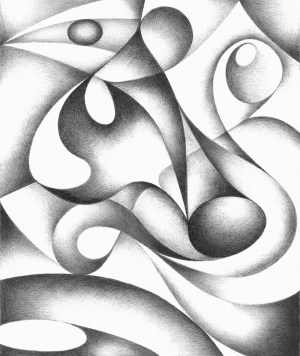 abstract drawing geometric freehand drawings shapes pencil easy simple shape value sketch shading pattern sketches designs lines pen google graphite